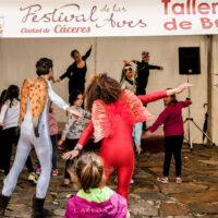 Talleres infantiles en el Festival de las Aves «Ciudad de Cáceres 2016»